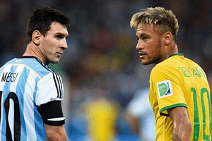 Messi Does not Tolerate Neymar in the South American Super Classic